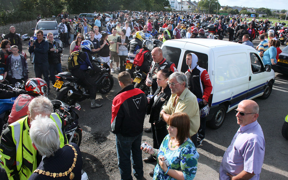 Mayor of Falmouth welcomes bikers