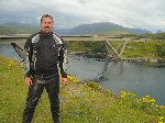 Paul at Kylesku Bridge