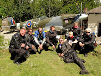 Newquay motorbike ride  via Spitfire in garden